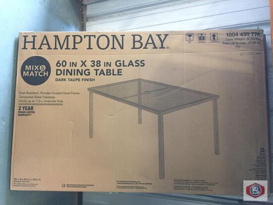 Hampton Bay dining table. qty 2.