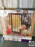 Closet organizer + infant gate.