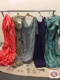 Beautiful party dresses Couture Miss Long color amethyst size 14 Long color aqua size 16 Long color
