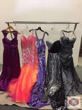Beautiful party dresses Couture Miss Long strap color charcoal size10 Long Blk/silver size 10 Long