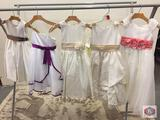 White/purple size 4 Ivy/brown size 4 Ivy/golde size 6 Ivory/ gold size 6 Ivy/coral size 6