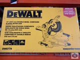 DeWalt 12? (305mm) Double Bevel Compound Sliding Miter Saw. Model DWS779. /. DOIT 12? Double Bevel