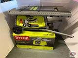 Ryobi 10? expanded Capacity Table saw with Rolling Stand Model RTS22. / Ryobi 10?Table saw Model.