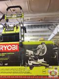 RYOBI 2000 psi Electric Pressure RYOBI 10 in Sliding compound Miter saw 12in Cross cut capacity Led