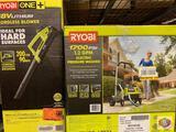 Ryobi 1700 psi 1.2 GPM Electric Pressure Washer. / Ryobi 18v Cordless Blower