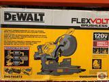 DeWalt Flexvol Brushless 120v MAX Corded / Cordless 12? (305mm) Double Bevel Sliding Miter Saw