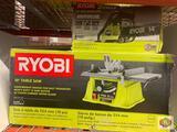1 Ryobi 10? Table saw / 1 Ryobi 2 cycle 14? Gas chainsaw
