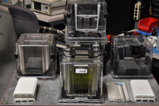 Laserprep cassettes and master glasses (used)