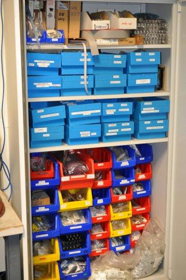 Metal Storage cabinet / Contents test equipment