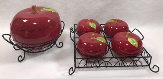 Temp-tations 'Fresh Crop' Apple Ceramic Oven-to-Table Set