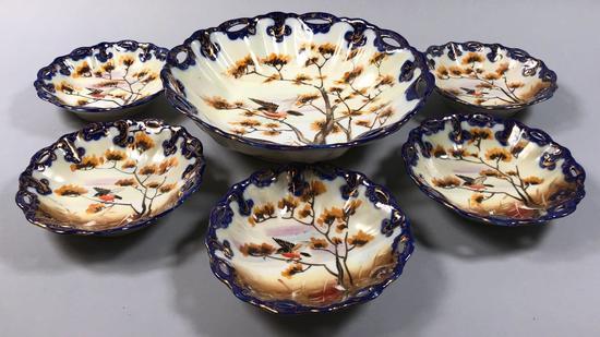 Flow Blue Berry Bowl Set