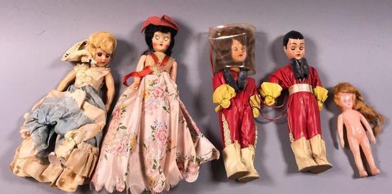 (5) Vintage Blinking Eye Dolls