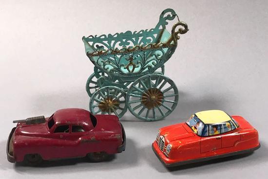 (2) Vintage Tin/Metal Cars