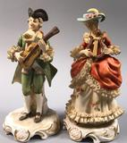 Pair of Figurines with Porcelain Lace