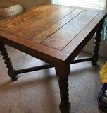 Pub Table with Barley Twist Legs and Extensions(LPO)