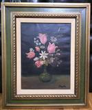 Oil on Canvas: Floral Still Life