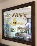 Framed Cowan's Old Irish Whisky Bar Mirror (LPO)