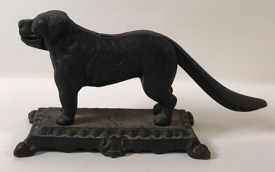 Cast Iron Dog Figural Nut Cracker
