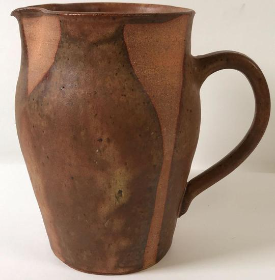 Modern Artisan Pottery Pitcher Signed
