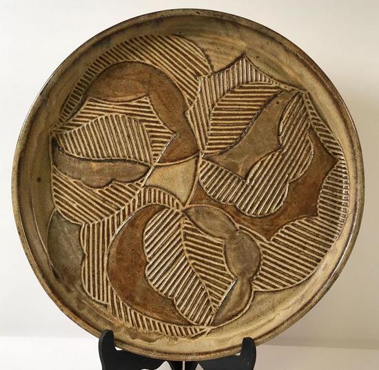 Modern Artisan Pottery Round Tray