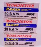 (3) Boxes of Winchester RA40DF Ammo