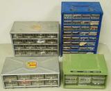 (4) Hardware storage bin organizers w/assorted hardwares included (LPO)