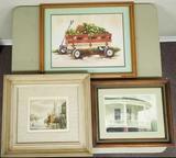 (3) Framed Art Print Lot (LPO)