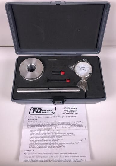 T&D Machine Pinion Depth Checker Kit