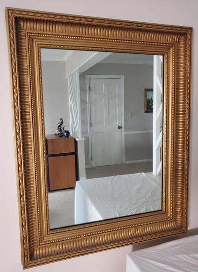 Framed Mirror and Mirrored Curio Cabinet (LPO)