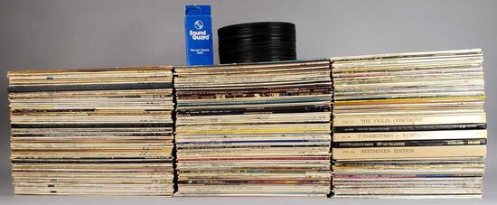 Large Assortment of 33rpm Records and assorted 45rpm Records (LPO)