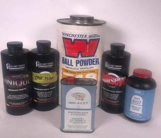 (6) Partial Containers of Smokeless Powder (LPO)