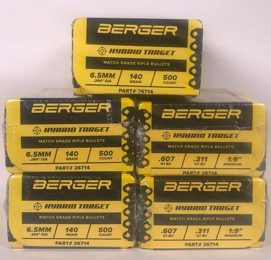 Berger 6.5mm Match Grade Bullets