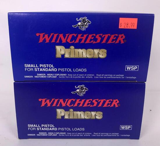 2,000 Winchester Small Pistol Primers (LPO)