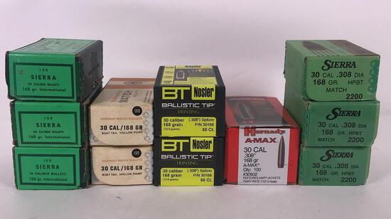 Assortment of .30 Cal Bullets