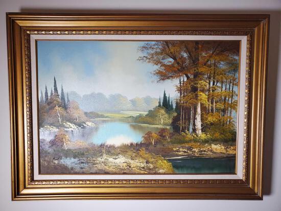 """Peaceful Lane"" Oil Painting on Canvas (LPO)"