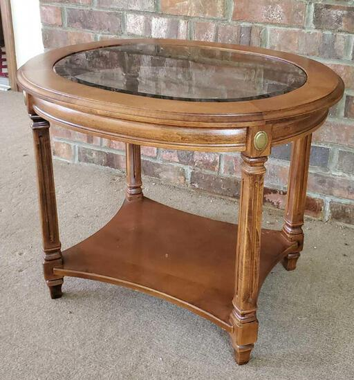 Oval Glass Top Table (LPO)