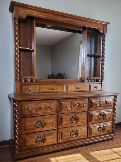 Dresser With Lighted Mirror by Lea (LPO)