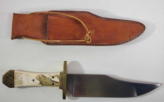 Bob Levine Fixed Blade Knife with Sheath