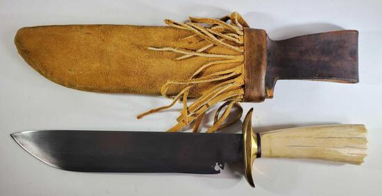 Bob Levine Fixed Blade Knife with Sheath