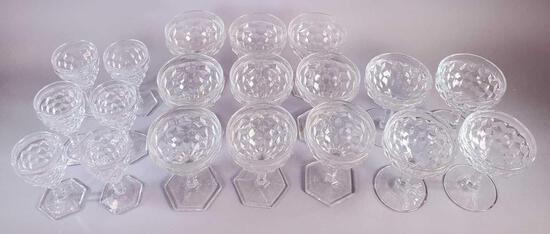 Fostoria American Glass Stem Pattern #2056 - 19 Pieces