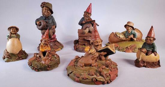 (7) Duncan Clark Gnome Figures