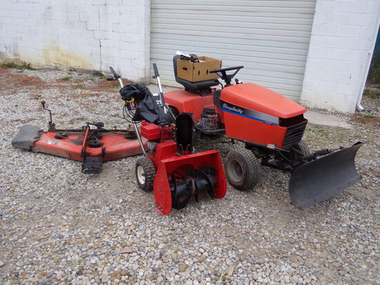 Simplicity Lawn  Garden Tractor  Toro Lawn Snow Thrower