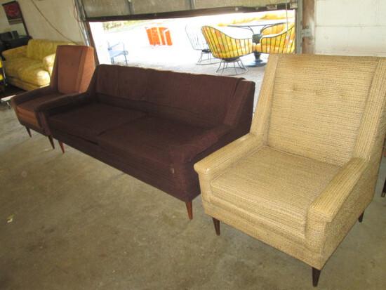 Mid Century Flexsteel Sofa & Chairs