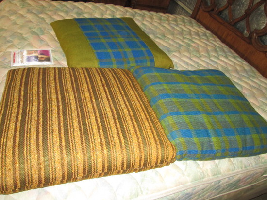 3 Large Mid Century Decor Floor Cushions