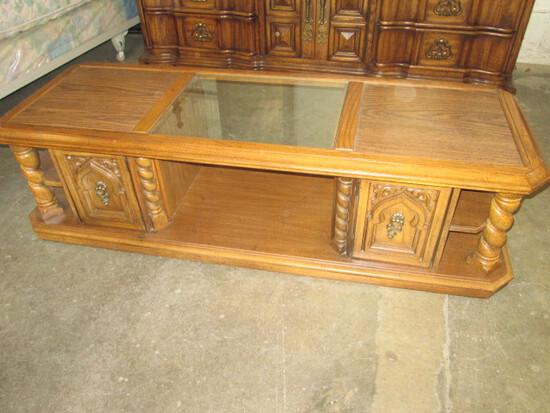 Glass & Wood Coffee Table