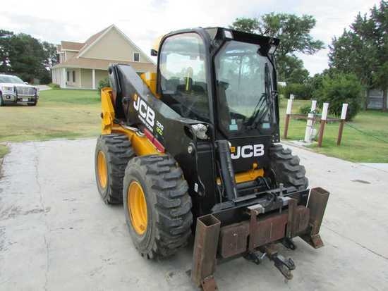 2014 JCB Model 330 ECO Skid Steer W/76 Hrs. W/Bucket, Cab, Air & Heat, Extr