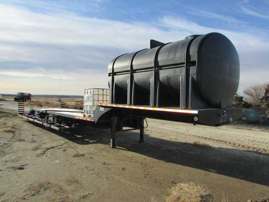 2008 B-B Behnke 53ft Drop Deck Support Trailer 3,200 Gal Tank, 3in Discharge