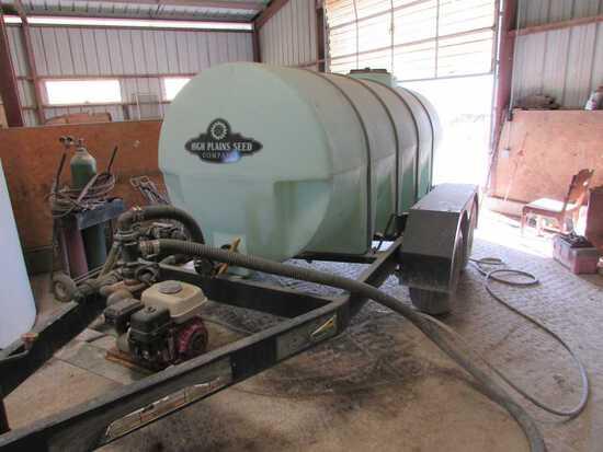 Schaben 1,000 Gallon Nurse Trailer W/Honda Engine, Tandem Axle