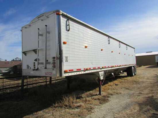 42 Ft.  Wilson 78 in High Side Grain Trailer, Rollover Tarp -