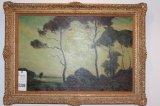 Landscape, original work by Geo. Davidson ANA